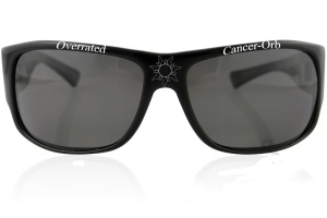 """Sunglasses emblazoned with """"Overrated Cancer-Orb"""""""
